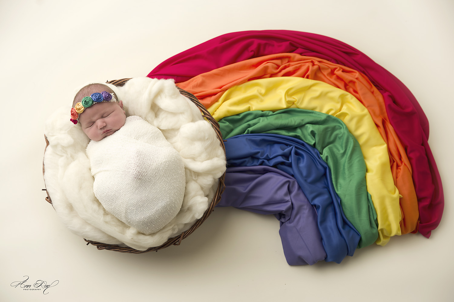 St. Louis Newborn Rainbow Photo Session