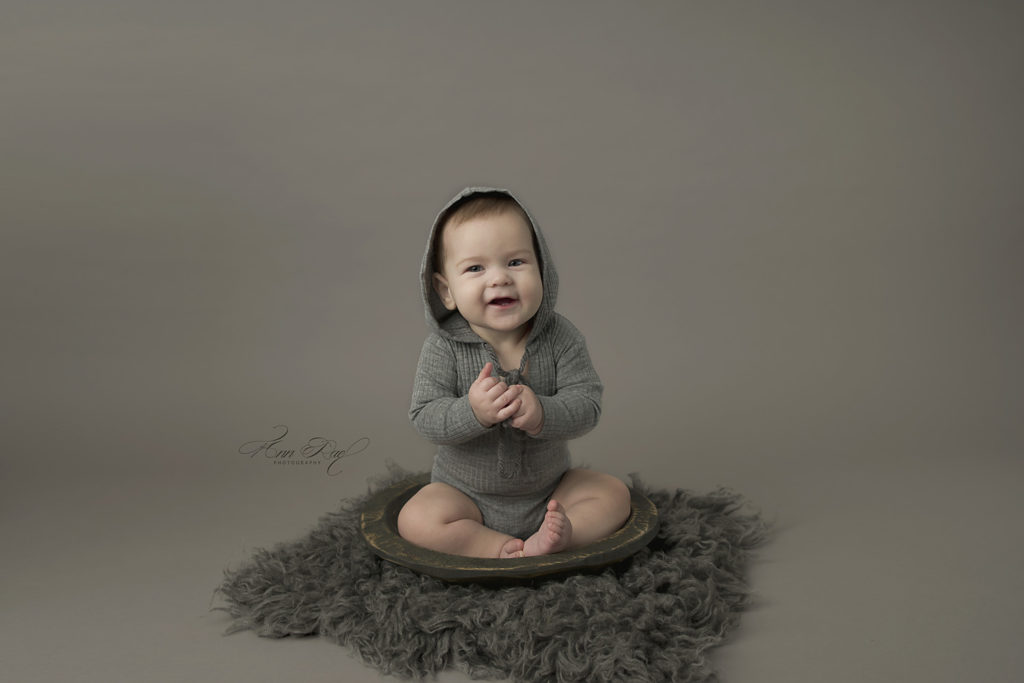 Sitter Photography Session with Shades of Gray