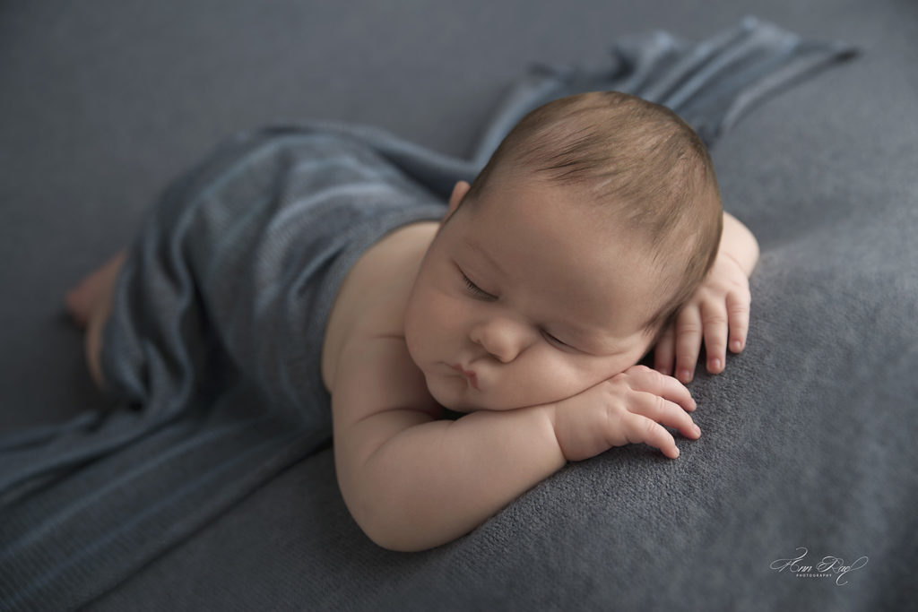 Baby Photographer in St. Louis Missouri takes picture of sleeping baby